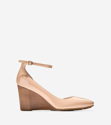 Cole Haan Womens Lacey Ankle Strap Wedge