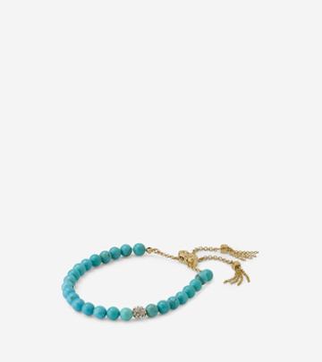 Cole Haan Womens Semi-precious Beaded Pull-tie Bracelet