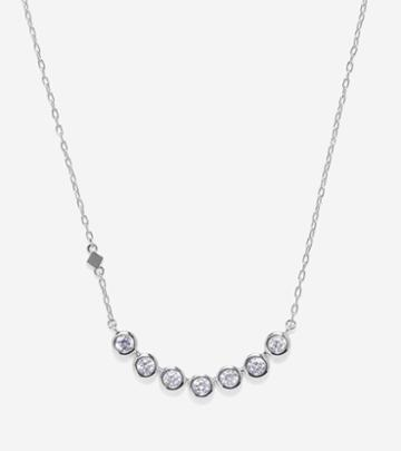 Cole Haan Womens Cz Multi Necklace