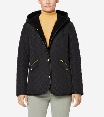 Cole Haan Women's Signature Sherpa Lined Quilted Jacket