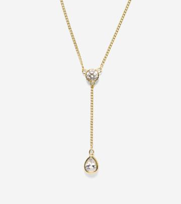 Cole Haan Womens Starry Skies Cz Y Necklace