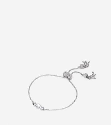 Cole Haan Womens Cz Pull-tie Bracelet