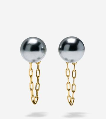 Cole Haan Women's Starry Pearl Front-to-back Earrings