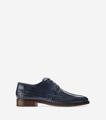 Cole Haan Men's Washington Grand Woven Plain Toe Oxford Shoes