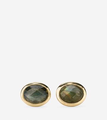 Cole Haan Womens Water Under The Bridge Semi-precious Stud Earrings