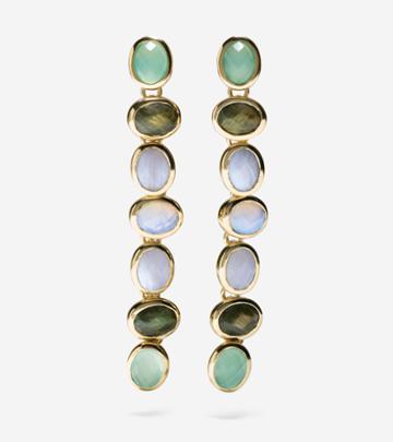 Cole Haan Womens Water Under The Bridge Semi-precious Linear Earrings