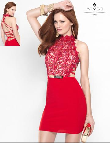 Alyce Paris - 46529 Dress In Red