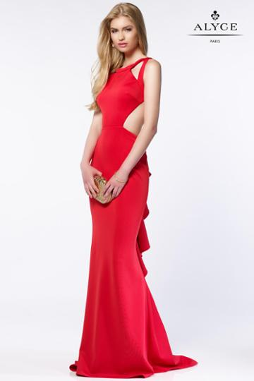Alyce Paris - 8004 Dress In Red