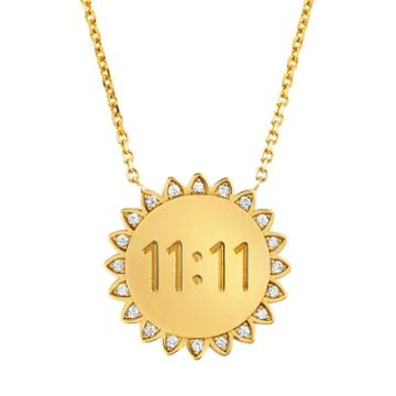 Logan Hollowell - New! Medium 11:11 Sunshine Necklace With Diamonds