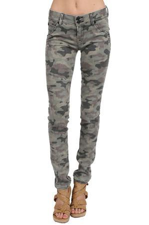 Hudson Jeans Camo Collin In Faded Green Camo