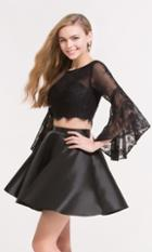 Alyce Paris Homecoming - 3732 Illusion Bateau Neck A-line Dress