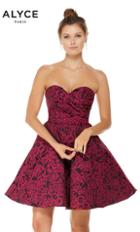 Alyce Paris - 3785 Strapless Jacquard Sweetheart A-line Dress