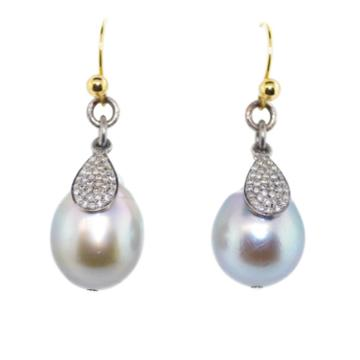 Mabel Chong - Pearls With Pave Diamond Charms-wholesale