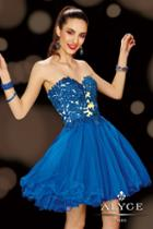 Alyce Paris Homecoming - 3613 Dress In Sapphire Nude