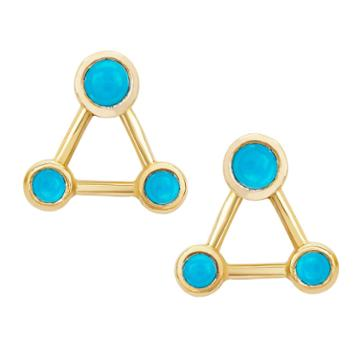 Logan Hollowell - New! Turquoise Summer Triangle Constellation Earrings