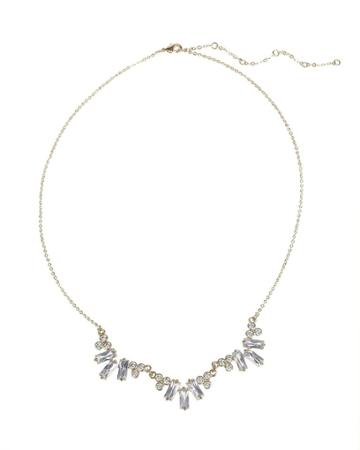 Cz By Kenneth Jay Lane - Baguette Cz Cluster Necklace