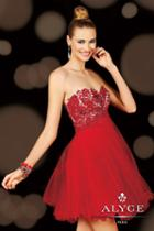 Alyce Paris Homecoming - 3601 Dress In Red
