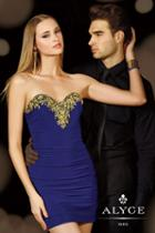 Alyce Paris Homecoming - 4384 Dress In Purple Gold