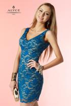 Alyce Paris Homecoming - 4416 Dress In Blue Nude