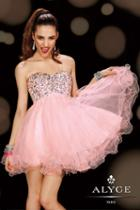 Alyce Paris Homecoming - 3594 Dress In Misty Pink