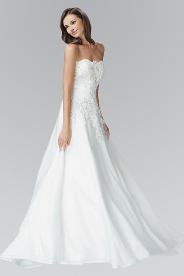 Elizabeth K - Gl2077 Bead Embellished Strapless Bridal Dress