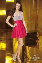 Alyce Paris Homecoming - 3558 Dress In Fuchsia