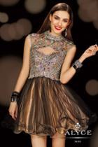 Alyce Paris - 3636 Dress In Black Nude