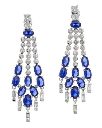 Cz By Kenneth Jay Lane - Triple Row Statement Earrings