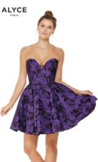 Alyce Paris - 3789 Strapless Sweetheart A-line Cocktail Dress