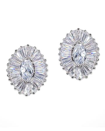 Cz By Kenneth Jay Lane - Marquise Pierced Earring