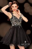 Alyce Paris Homecoming - 4402 Dress In Black