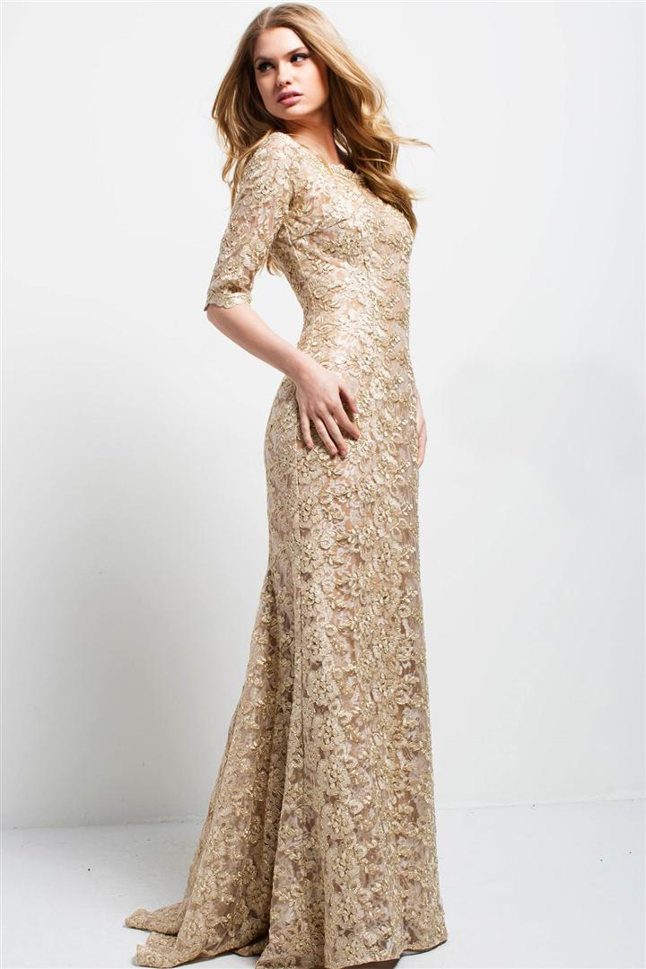 Jovani - 50156 Embroidered Lace Evening Gown