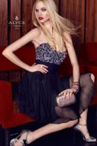 Alyce Paris - 3655 Short Dress In Black