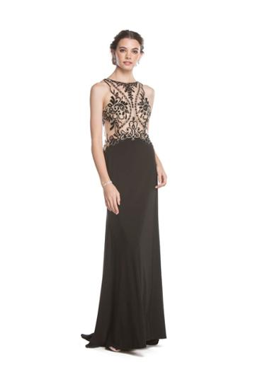 Aspeed - L1580 Sheer Embellished Fitted Evening Dress