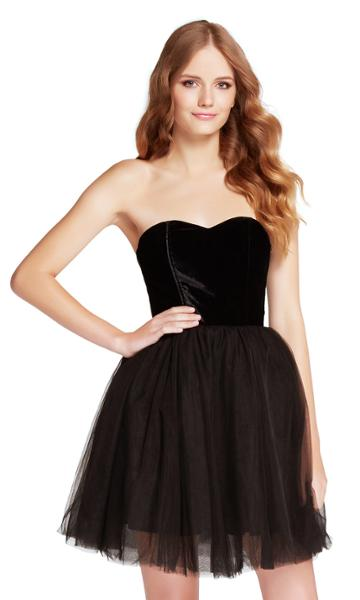 Harper And Lemon - 22101 Strapless Sweetheart Tulle Short Dress