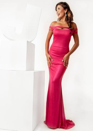 Jasz Couture - 6272 Off-shoulder Long Fitted Dress