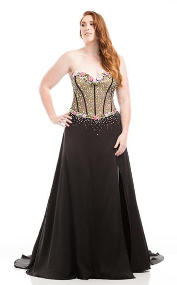 Johnathan Kayne - 7066k Corset-style Strapless Gown