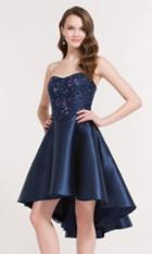 Alyce Paris Homecoming - 3730 Embellished Semi-sweetheart A-line Dress
