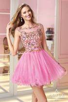 Alyce Paris Homecoming - 3579 Dress In Cosmopolitan Pink