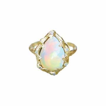 Logan Hollowell - New! Queen Water Drop White Opal Ring