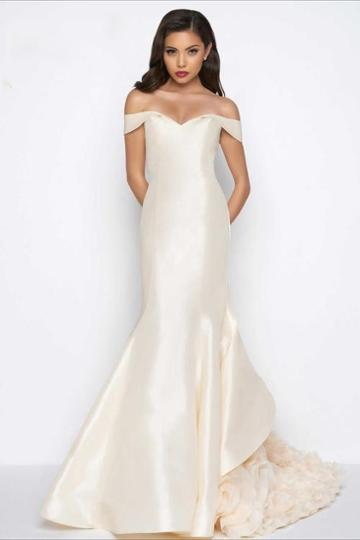 Mac Duggal Evening Gowns - 48365 Off The Shoulder Mermaid Gown