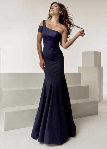 Jasz Couture - 6303 One Shoulder Strap Fitted Mermaid Gown
