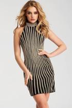Jovani - 55619 High Halter Neck Sheath Dress