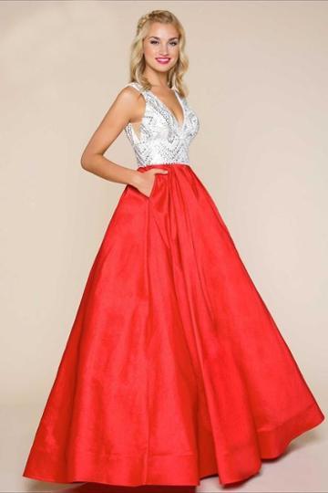Mac Duggal - 77156h Ball Gowns Style