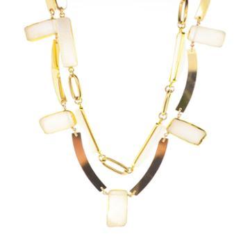 Mabel Chong - Druzy Petal Double Layer Necklace- Wholesale