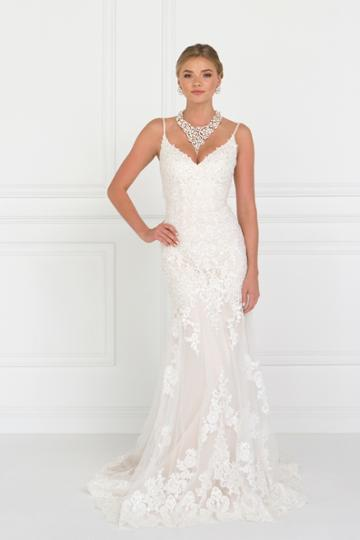 Elizabeth K - Gl1515 Beaded Lace V-neck Trumpet Bridal Gown