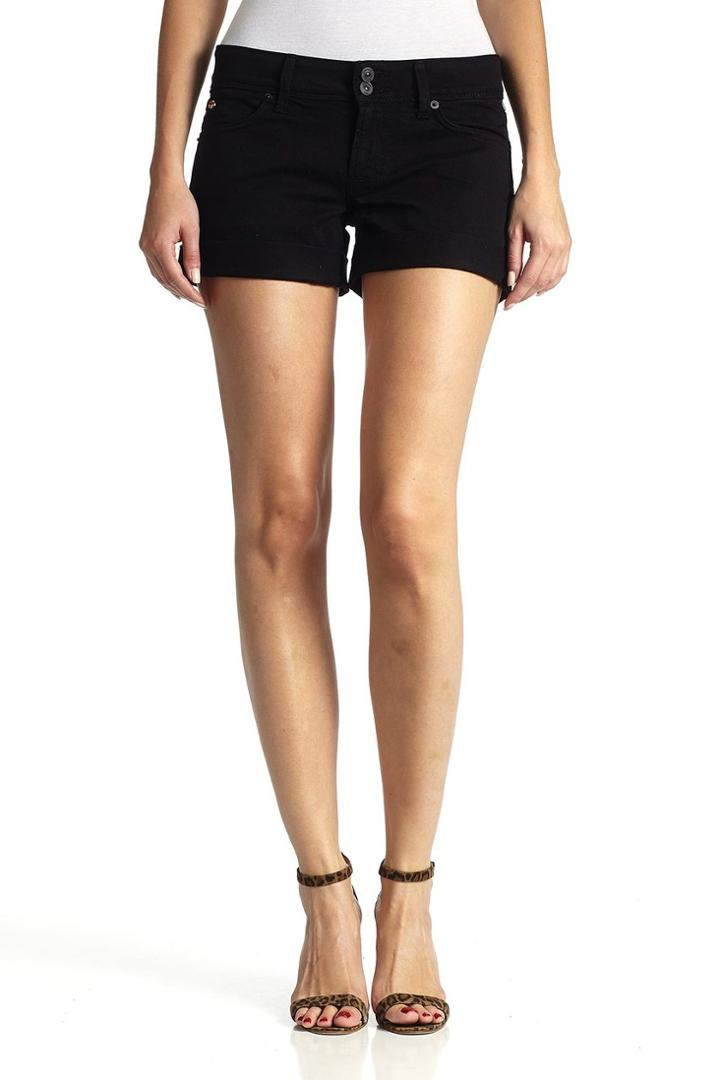 Hudson Jeans - W653dlw Croxley Mid Thigh Short In Black
