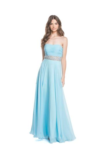 Aspeed - L1609 Strapless Ruched A-line Evening Dress
