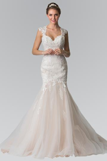 Elizabeth K - Gl2367 Beaded Lace Sweetheart Organza Mermaid Wedding Gown