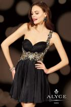 Alyce Paris Homecoming - 4399 Dress In Black Gold